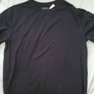 Quicksilver Black Logo Surf Black Crew Neck Shirt